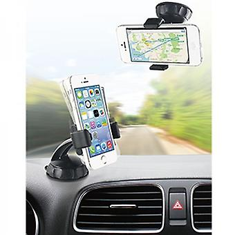 Muvit universal car holder 360 °, for windscreen fitting, Smartphone 8, 8 cm