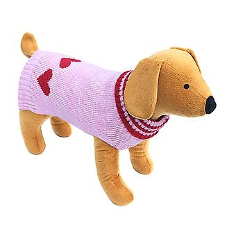 Doggy Things Red Heart Jumper Extra Extra Small 30cm