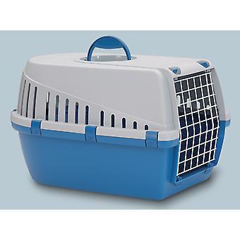 Trotter 3 Pet Carrier flyselskab godkendt blå/grå 60.5x40.5x39cm (pakke med 3)