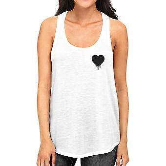 Melting Heart Womens Tank Top Pocket Size Graphic Cute Heart Design