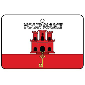 Gibraltar Flag Custom Car Air Freshener