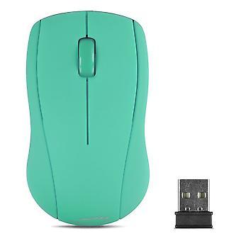 SPEEDLINK bidsk trådløse 1000dpi optisk tre-knap-mus med USB modtager turkis (SL-630003-TE)
