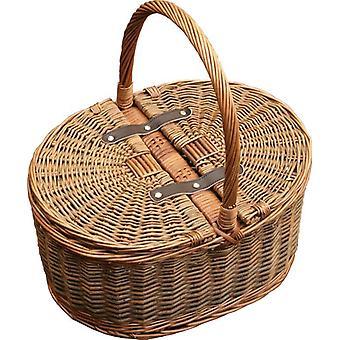 Dos tapas de Picnic Oval 2 tono vaciar cesta de Picnic