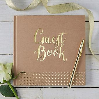 Gold Foiled Guest Book - Kraft Perfection r