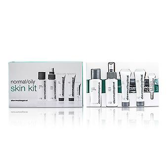 Dermalogica Normal / fettige Haut Kit: Cleansing Gel + Toner + Face Scrub + + Aktive Moist Eye Care 5er