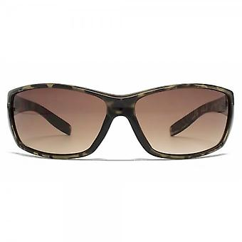 FCUK Rectangle Wrap Sunglasses In Black Tortoiseshell