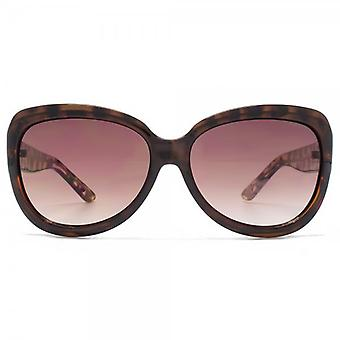 Kurt Geiger Bridget Flared Sunglasses In Tortoiseshell