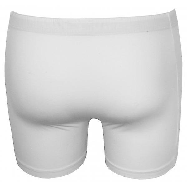 Hanro Cotton Superior Button-Fly Boxer Trunk, White