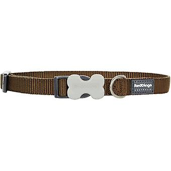 Red Dingo Brown Smooth Dog Collar (Chiens , Equipement , Colliers)