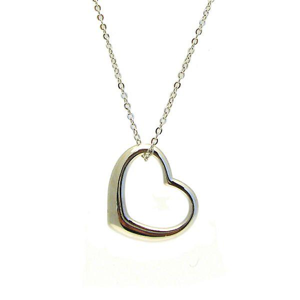 W.A.T Silver Style  Open Your Heart Shaped Necklace