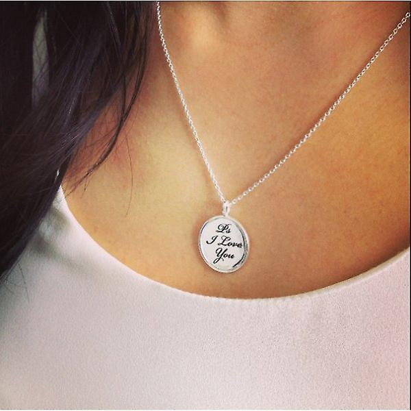 W.A.T 925 Sterling Silver 'Ps I Love You' Necklace By Kissika