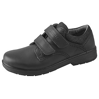 Ricosta Boys William School Shoes Black Leather Wide Fitting