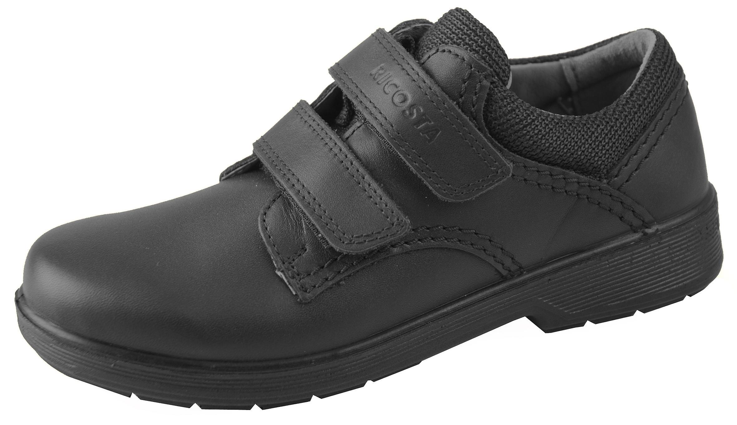 École de William garçons RICOSTA chaussures noir cuir large montage