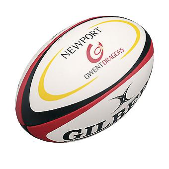 GILBERT Newport Gwent Dragons Mini Rugby bola