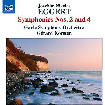 Eggert / Gävle Symphony Orchestra / Korsten - sinfonie nn. 2 & 4 [CD] USA import