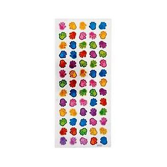 SALE -  Foiled Hand Sticker Sheet for Kids Crafts | Childrens Craft Stickers