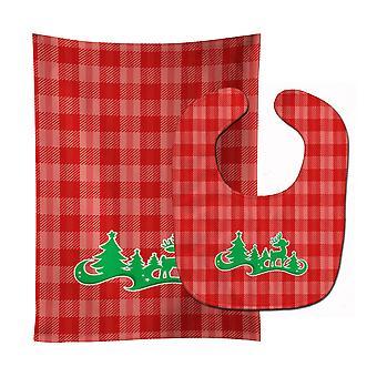 Kerstboom rendieren rode Baby Slabbetje & Burp doek