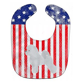 Carolines Treasures  BB3345BIB USA Patriotic Bichon Frise Baby Bib