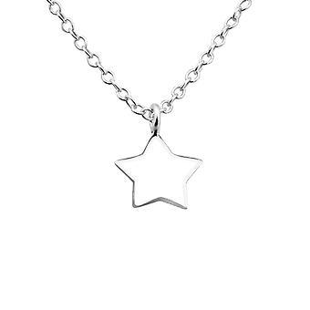 Star - 925 Sterling Sølv Plain halskæder - W22015X