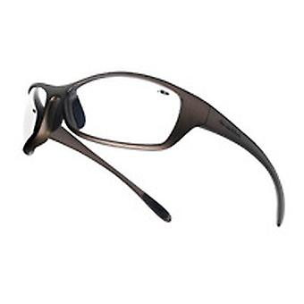 SPIPSI BOLLE SPIDER GLASSES BRONZE NYLON FRAME /W TIPGRIP AND TPE COMFORT CLEAR