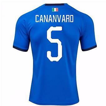 2018-19 Italia hjem skjorte (Cananvaro 5)