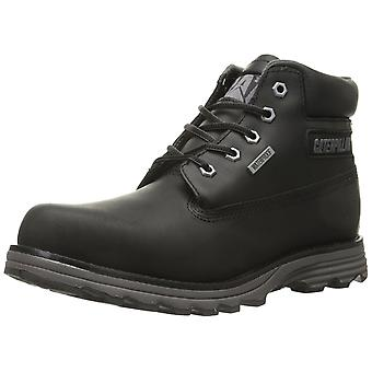 Caterpillar Mens FOUNDER WP Leather Soft toe Lace Up, Black, Size 8.0