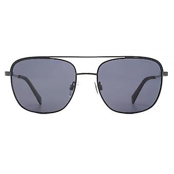Polaroid Square Navigator Sunglasses In Matte Black Polarised