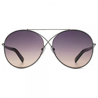Tom Ford Iva Sunglasses In Matte Light Ruthenium Pink