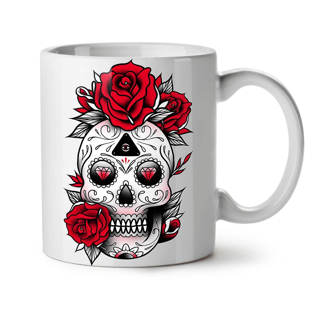 Ceramic Coffee OzWellcoda Cute New Skull Mug Tea White 11 uXOPkwZTi