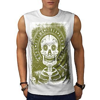 Latein Zitat Tod Schädel Männer WhiteSleeveless T-shirt | Wellcoda