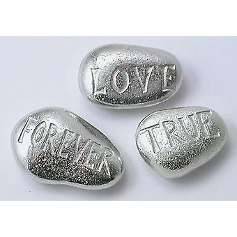 Love Forever True - Pewter Pebbles  Set of 3