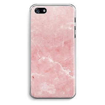 iPhone 5 / 5S / trasparente SE caso (Soft) - marmo rosa