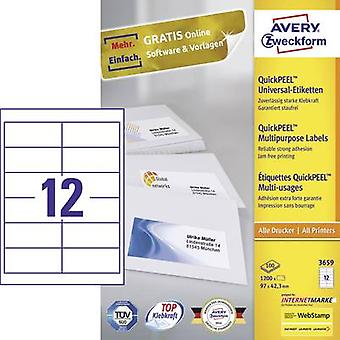 Avery-Zweckform 3659 Labels (A4) 97 x 42.3 mm Paper