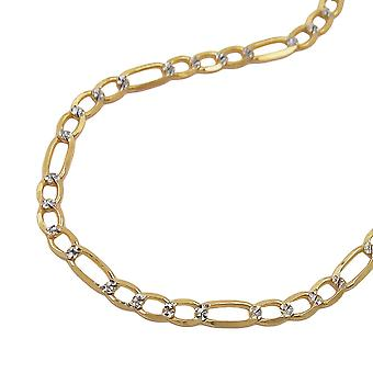Necklace figaro chain 45cm 14k gold
