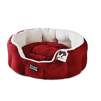 Luxury Red Small Pet Oval Bed - 53cm