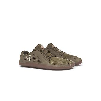 Vivobarefoot Primus Trio Olive Green Leather & Mesh Lace Up Barefoot Premium Trainers
