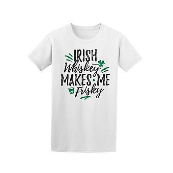 Irish Whiskey Makes Me Frisky Graphic Tee - Image by Shutterstock