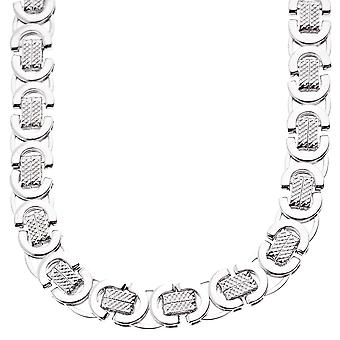 Iced out solid hip hop chain - BYZANTINE 10mm silver