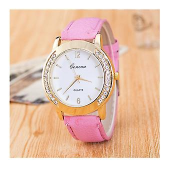 Gold Geneva Pink Watch Ladies Girls Fashion Watches