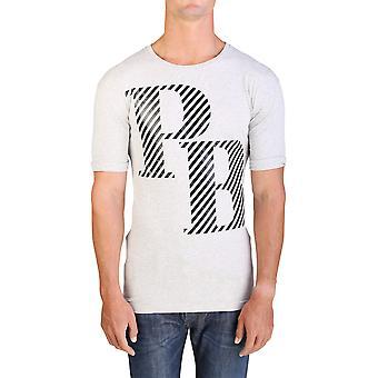 Pierre Balmain mænds grafisk Logo Herre T-Shirt grå