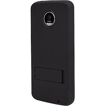 Case-Mate Shock-absorbing Tough Case with Stand for Moto Z Play Droid - Black
