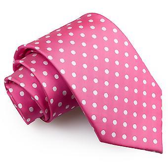 Klasyczny krawat gorące różowe Grochy