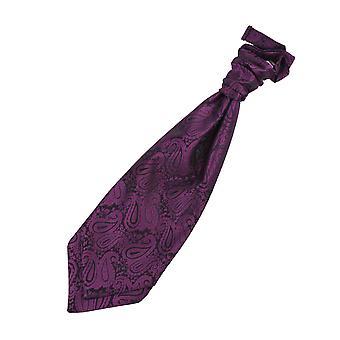 Paarse Paisley vooraf gebonden bruiloft Cravat