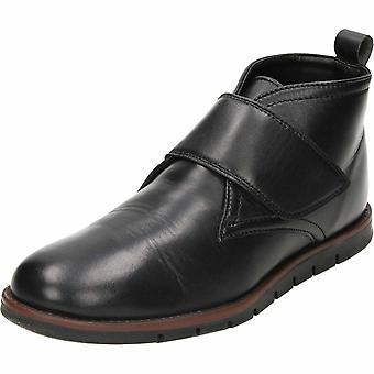 Dr. Keller toque sujeción negro cuero tobillo botas