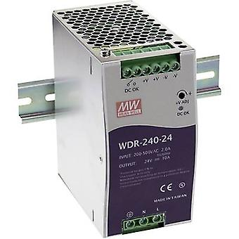 Mean Well WDR-240-24 Rail mounted PSU (DIN) 24 Vdc 10 A 240 W 1 x