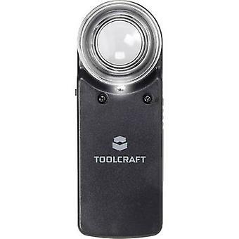 Handheld magnifier incl. LED lighting Magnification: 15 x Lens size: (Ø) 20 mm TOOLCRAFT 1303080