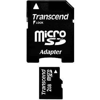 Transcend TS2GUSD MicroSD Karte 2 GB Klasse 2 inkl. SD-adapter