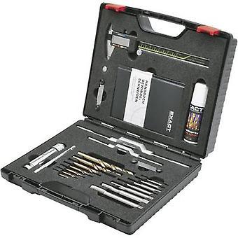Tap tool kit 22-piece HSS-E Exact 70543 metric M3, M4, M5, M6, M8, M10, M12