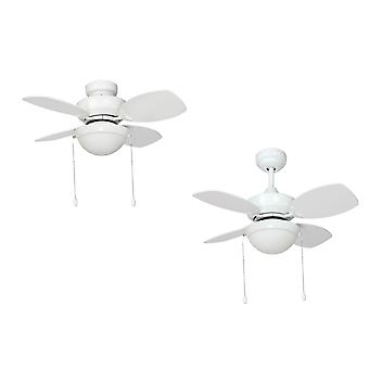 Ceiling Fan Kompact White 71cm / 28