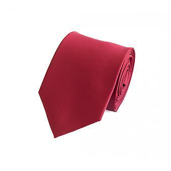 Knytte slipset binde bånd 8cm rød uni Fabio Farini